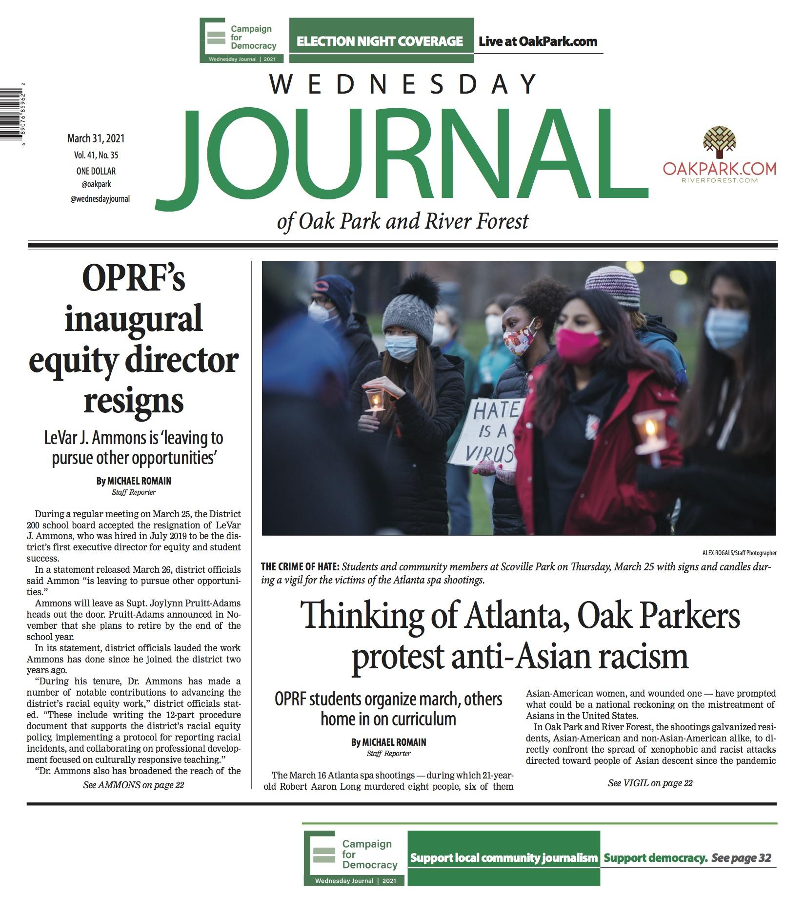 Print Edition: March 31 - Oak Park